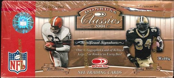 NFL 2001 DONRUSS CLASSIES FOOTBALL HOBBY BOX