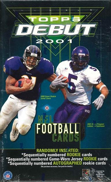 NFL 2001 TOPPS DEBUT NFL FOOTBALL CARD BOX