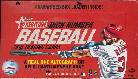 2016 TOPPS HERITAGE HIGH NUMBER BASEBALL BOX(送料無料)