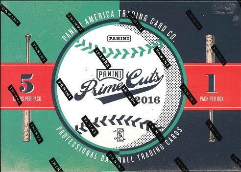 2016 PANINI PRIME CUTS BASEBALL BOX