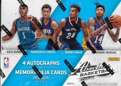 NBA 2016/2017 PANINI ABSOLUTE BASKETBALL BOX (送料無料)