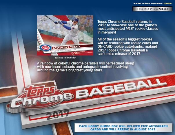 MLB 2017 TOPPS CHROME BASEBALL JUMBO BOX