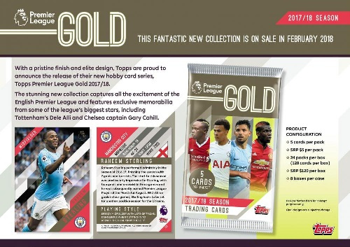 2017/18 TOPPS PREMIER GOLD ENGLAND PREMIER LEAGUE BOX