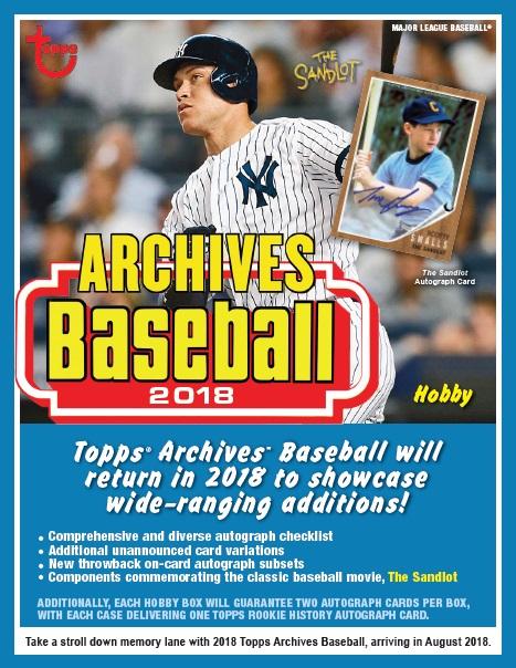 MLB 2018 TOPPS ARCHIVES BASEBALL BOX