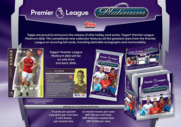 2017/18 TOPPS PREMIER LEAGUE PLATINUM BOX