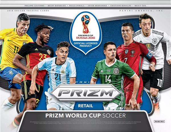 ■セール■2018 PANINI PRIZM FIFA WORLD CUP SOCCER FAT PACK BOX(送料無料)