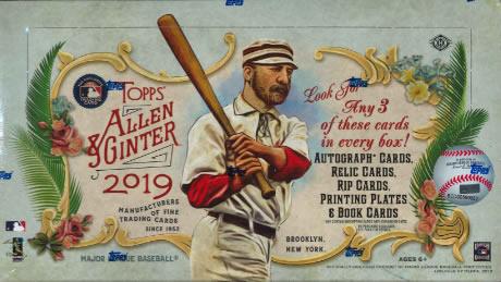 MLB 2019 TOPPS ALLEN&GINTER BASEBALL HOBBY BOX