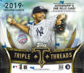 MLB 2019 TOPPS TRIPLE THREADS BASEBALL BOX (送料無料)