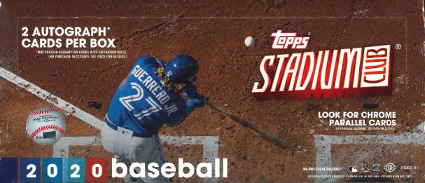 MLB 2020 TOPPS STADIUM CLUB BASEBALL HOBBY BOX (送料無料)