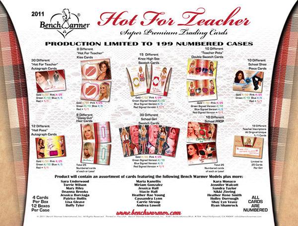 2011 BENCH WARMER HOT FOR TEACHER