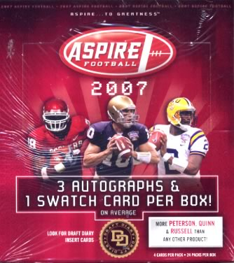 NFL 2007 SAGE ASPIRE FOOTBALL