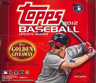 MLB 2012 TOPPS BASEBALL UPDATE SERIES JUMBO BOX