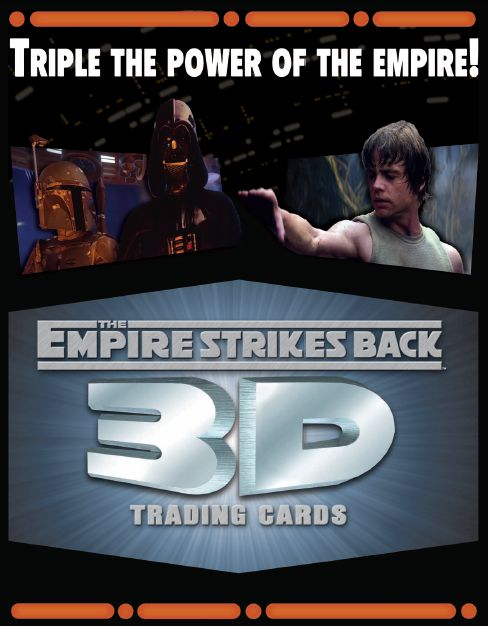 Counterattack WIDEVISION 3D trading card of the Star Wars empire