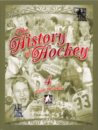 2012/2013 ITG(IN THE GAME) THE HISTORY OF HOCKEY