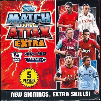 TOPPS 2012/2013 MATCH ATTAX EXTRA EXTRA EPL SOCCER TCG BOOSTER 英プレミアリーグ・サッカーカードゲーム追加版 ブースター
