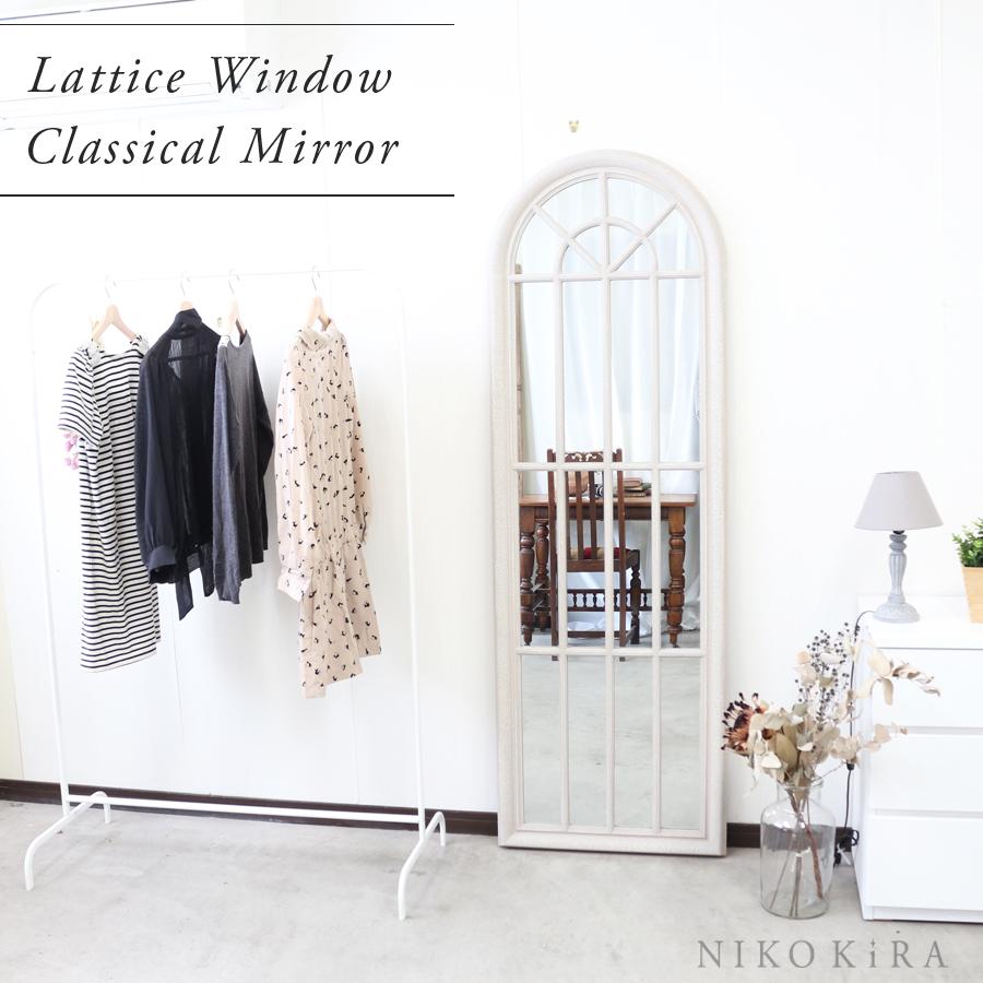 鏡 壁掛け ミラー 北欧風 北欧 おしゃれ フレンチ かわいい 窓 ミラー アンティーク ウォールミラー ウインドウ 格子 大きい鏡 大きい 大きな 特大 ビッグミラー サロン リビング 寝室 ショップ ディスプレイ クラシカル ウォールミラー ホワイト 白 グレー