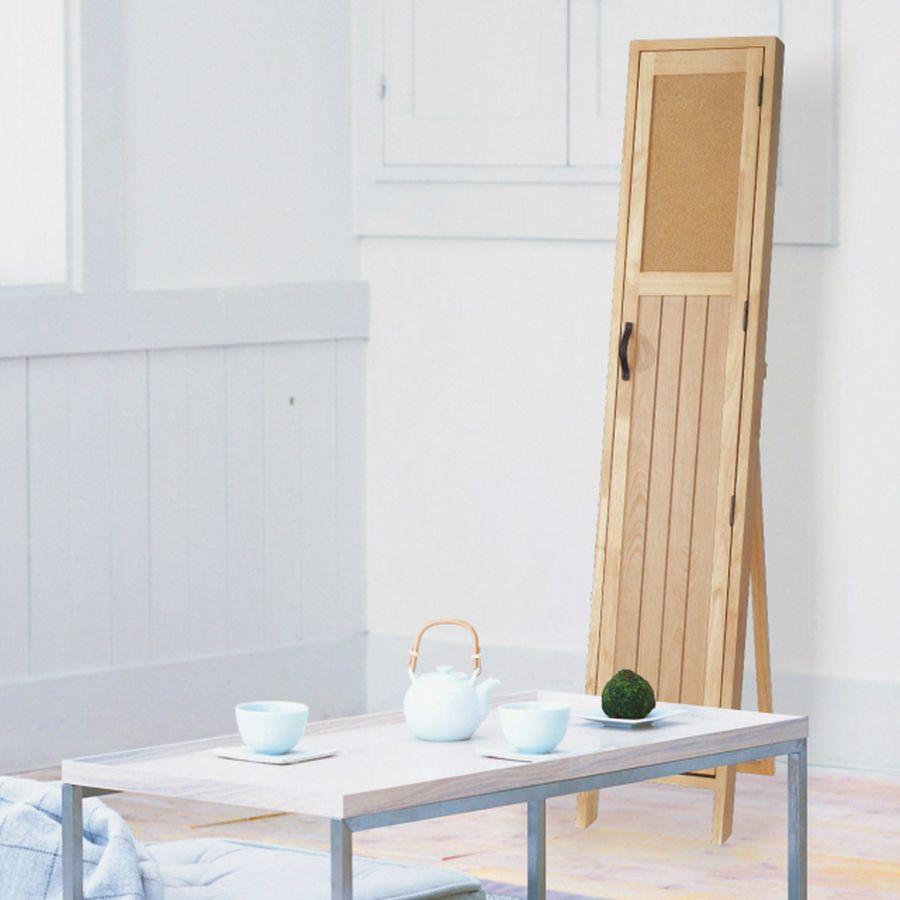 鏡 ミラー おしゃれ 全身 姿見 玄関 北欧 リビング 洗面 トイレ 寝室 インテリア スタンド 収納 便利 一体 ナチュラル 木製 茶 茶色 ブラウン ナチュラル POCO スタンド