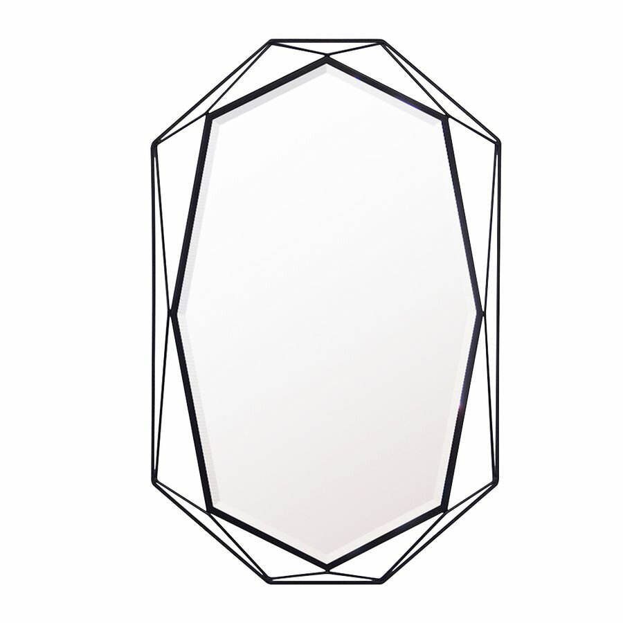 鏡 ミラー おしゃれ 全身 姿見 壁掛け ウォール 玄関 北欧 リビング 洗面 トイレ 寝室 インテリア モダン シンプル エレガント 上品 上質 高級 セレブ 上品 綺麗 かわいい GEM M ブラック 黒 黒色