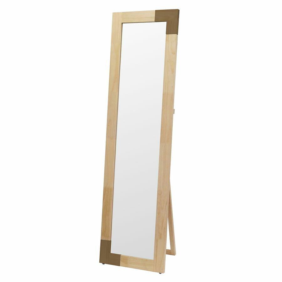 【5%OFF 】 鏡 ミラー 姿見 全身 おしゃれ オシャレ 玄関 北欧風 北欧 リビング 洗面 トイレ 寝室 インテリア ナチュラル ホワイト ブラウン シンプル KACCO スタンド BR 茶 茶色 白 白色 かわいい