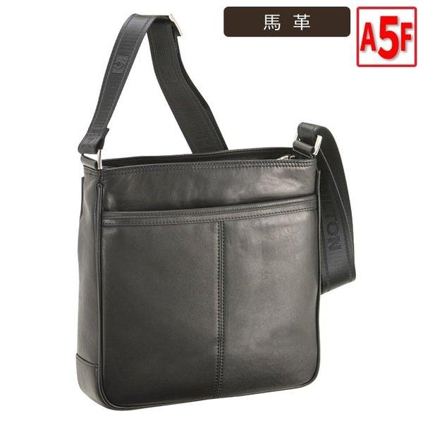 ショルダーバッグ メンズ ビジネスバッグ A5F 男性用 馬革 本革 レザー 軽量 ビジネス 旅行 黒 26cm #16381 h-lb16381