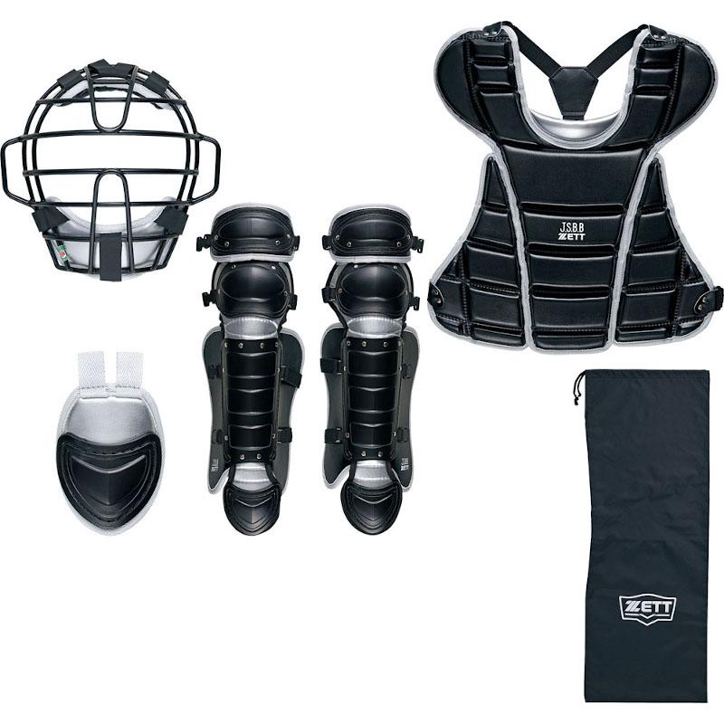 ZETT ゼット 少年野球 軟式 キャッチャー用防具4点セット 日本製 専用袋付き BL7320