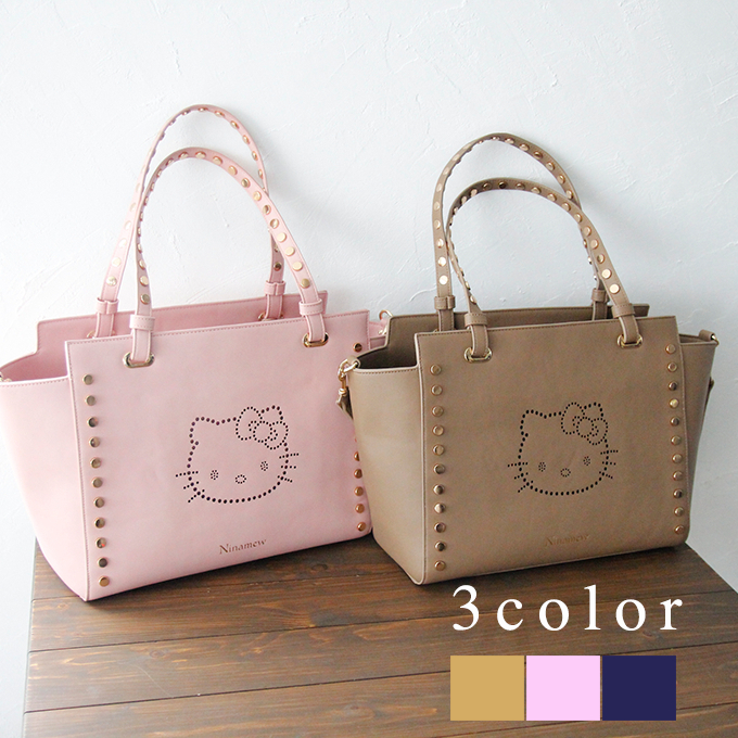 The tote bag which expressed lovely character by punching. What it is easy  to use in a basic silhouette points it. It is an item finishing coordinates  to ... 7534242b2bc05