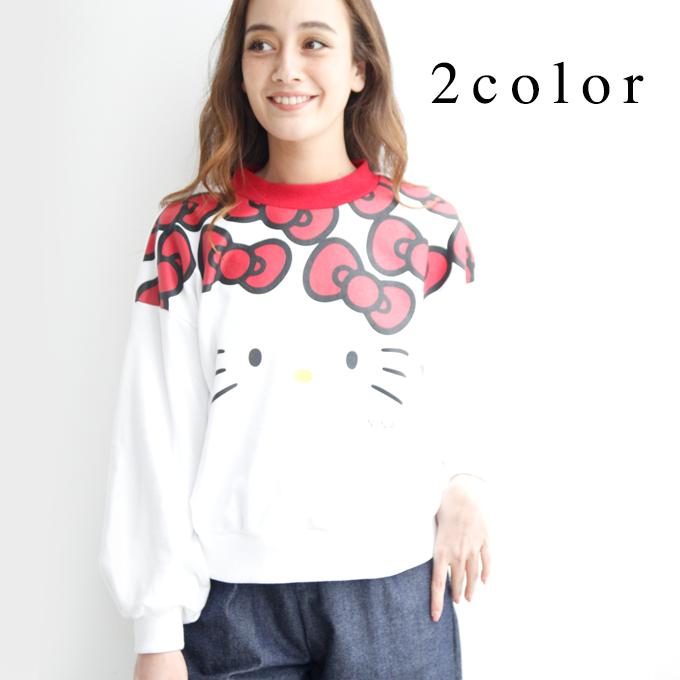 Hello Kitty トレーナー ninamew ニーナミュウ レディース ファッション ニーナ ミュウ キティ Hello Kitty コラボ サンリオ 可愛い 【プレゼント 梱包 無料】【即納可能】【あす楽 対応_関西地方迄】