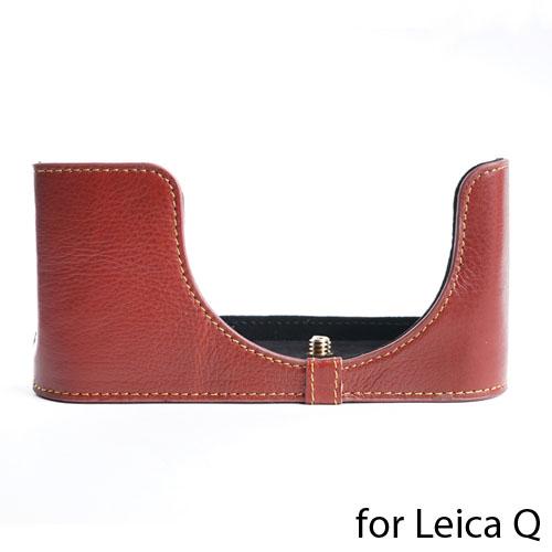 TP Original/ティーピー オリジナル Leather Camera Body Case レザー カメラ ボディケース for Leica Q (Typ116) コンパクトデジタルカメラ ライカ Q用 おしゃれ 本革 カメラケース 高品質 高級 速写ケース EZ Series Brown バッテリー交換可能