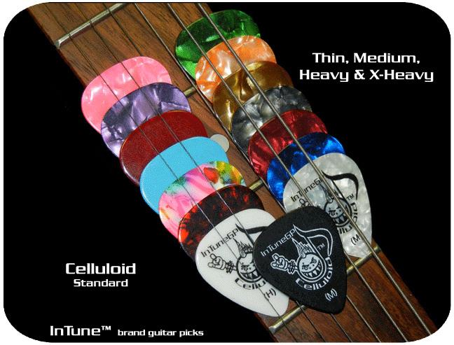 オリジナルピック受付! Celluloid Picks Standard フルカラー 両面 オリジナル画像プリント 100枚~ 【代引き不可】