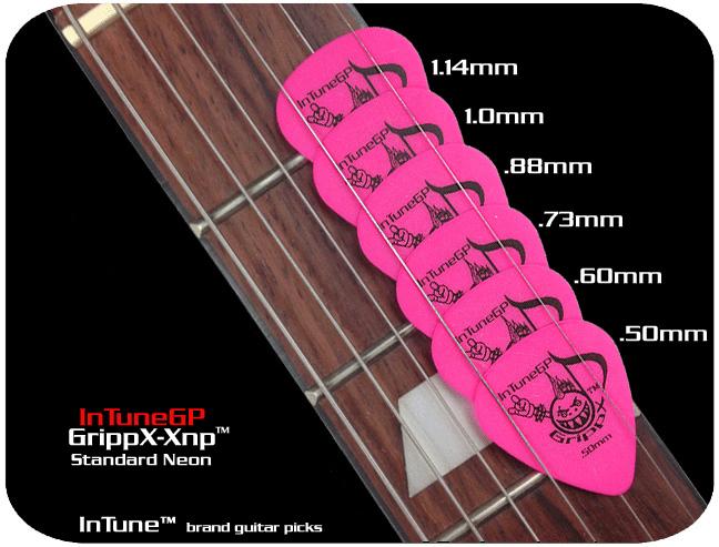 GrippX-Xnp 【代引き不可】 テキストプリント フルカラー ティアドロップ型 両面 100枚〜 オリジナルピック受付!