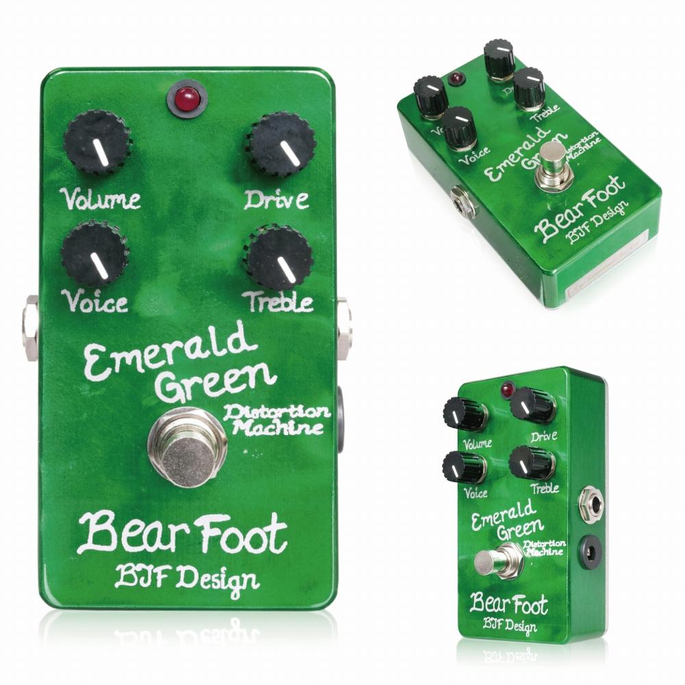 Bearfoot Guitar Effects Emerald Green Distortion Machine