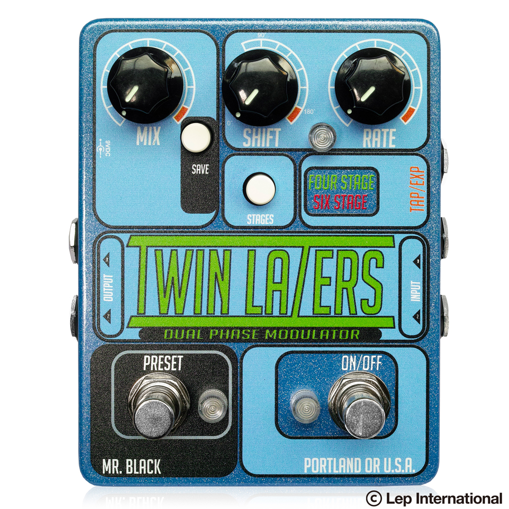 Mr. Black Twin Lazers / フェイザー ギター エフェクター