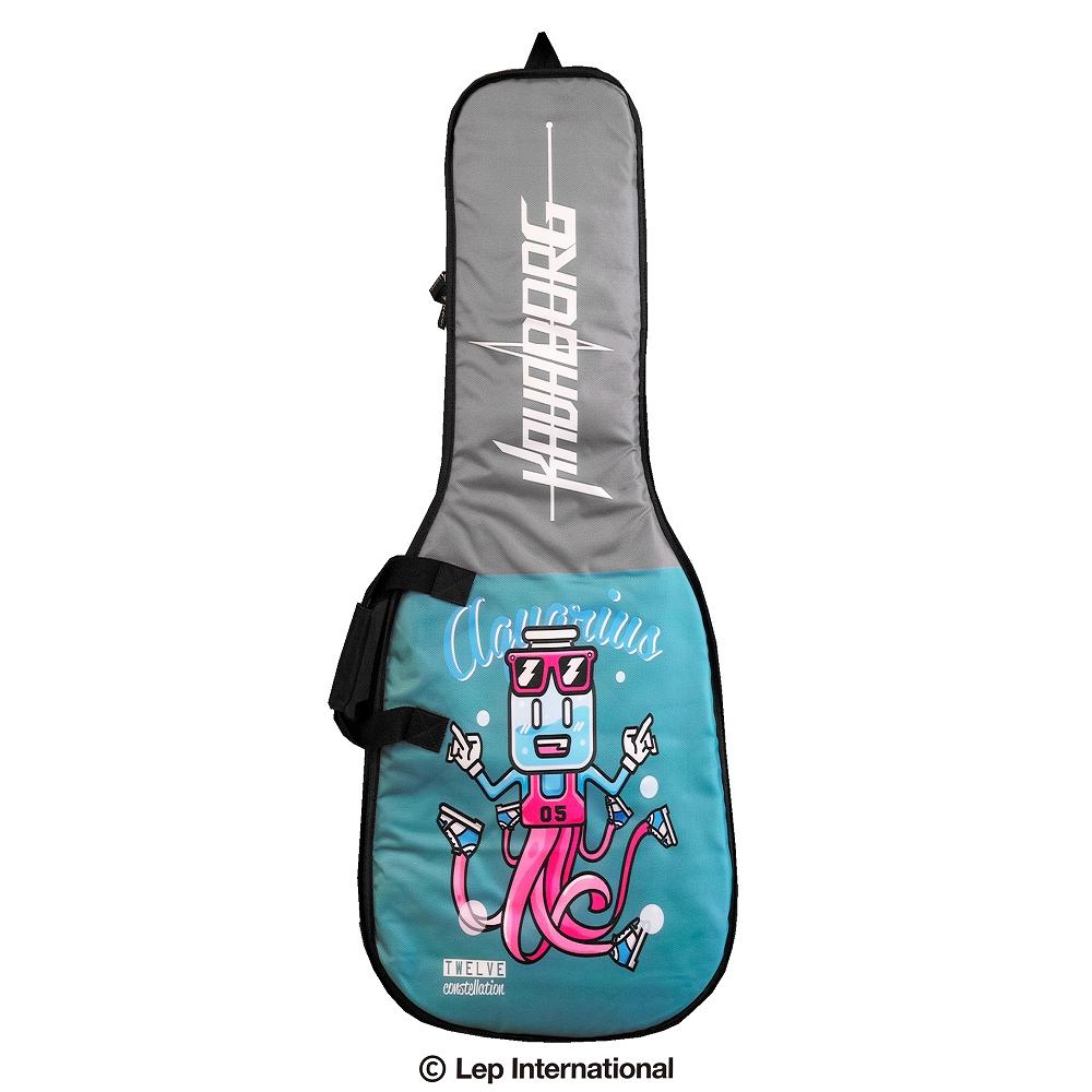 正規輸入品 Kavaborg KCE80E アウトレット Electric Guitar Gig Bag H008デザイン8 ポップな12星座デザインのギグバッグ ギター用 ギターケース セミハードケース 限定特価 水瓶座 リュックタイプ Aquarius