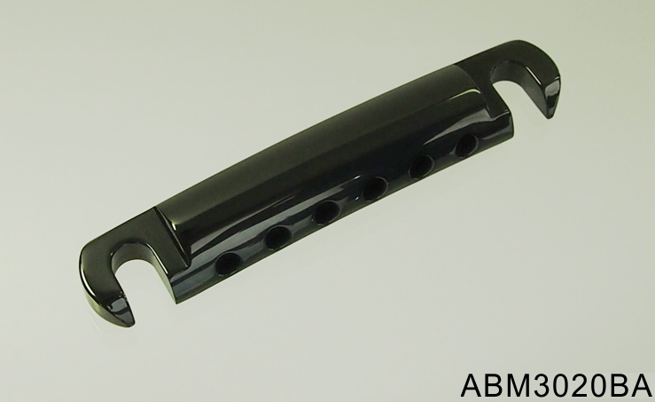 【納期: 約3ヶ月~】ABM/ABM3020BA ストップテイルピース ブラック(アルミ製)【お取り寄せ】【代引き不可】