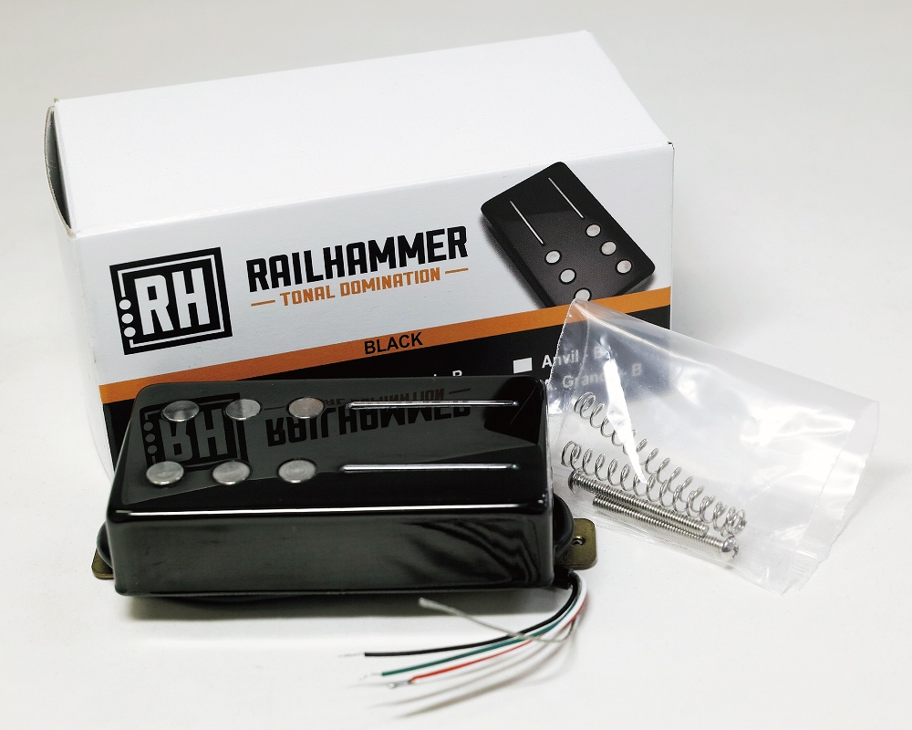 Railhammer Pickups Alnico Grande Black Bridge