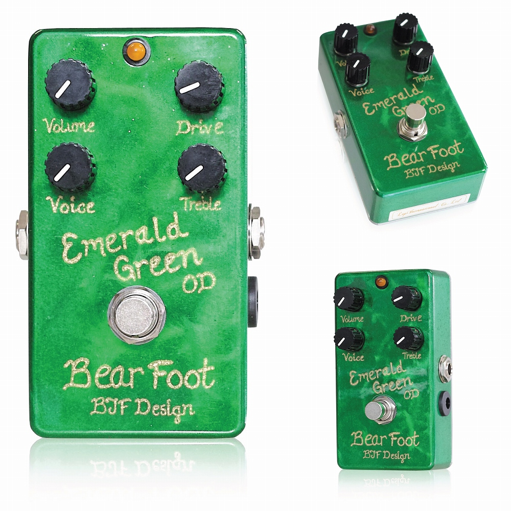 Bearfoot Guitar Effects Emerald Green Overdrive