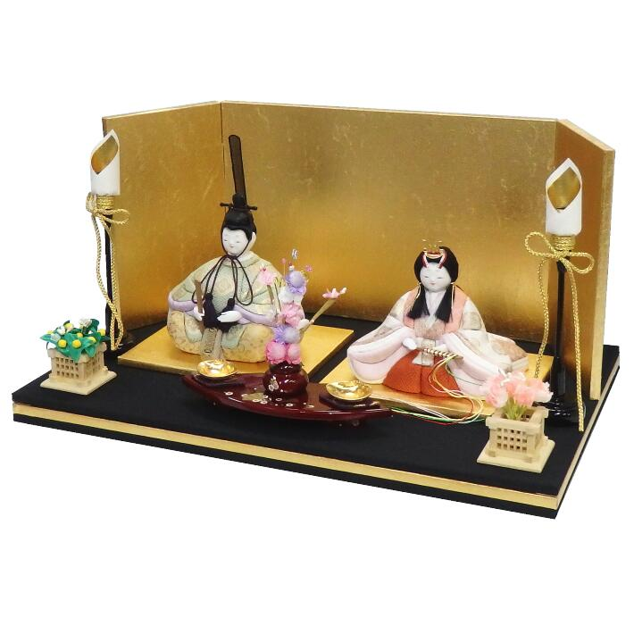 【木目込人形材料キット】【雛人形】【木目込みひな人形】葵丸雛 平飾り