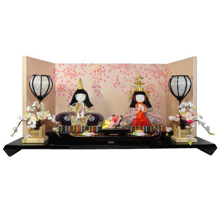【木目込人形材料キット】【雛人形】嵯峨雛 平飾り