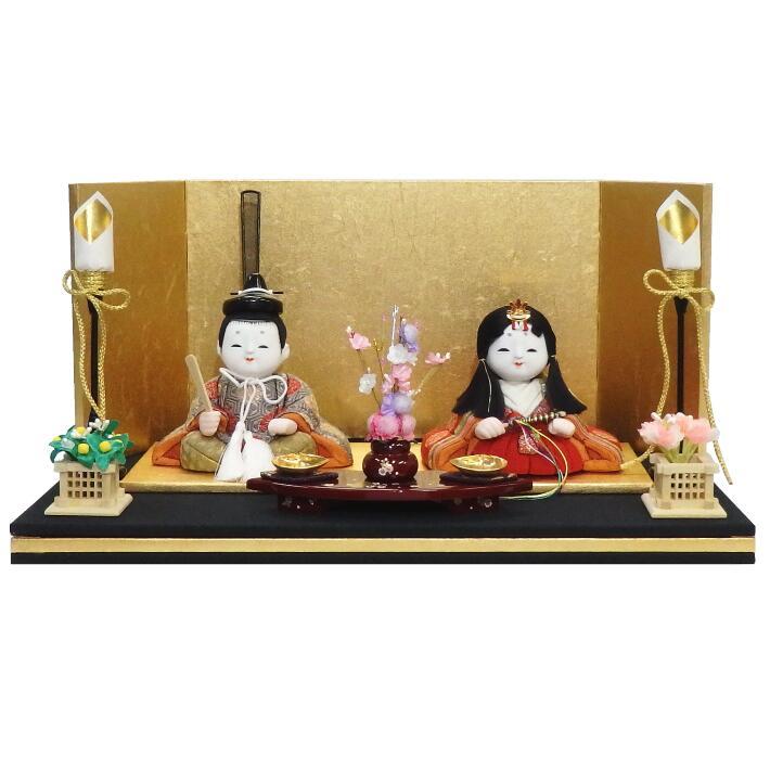 【木目込人形材料キット】【雛人形】【正絹】祝賀雛 平飾り