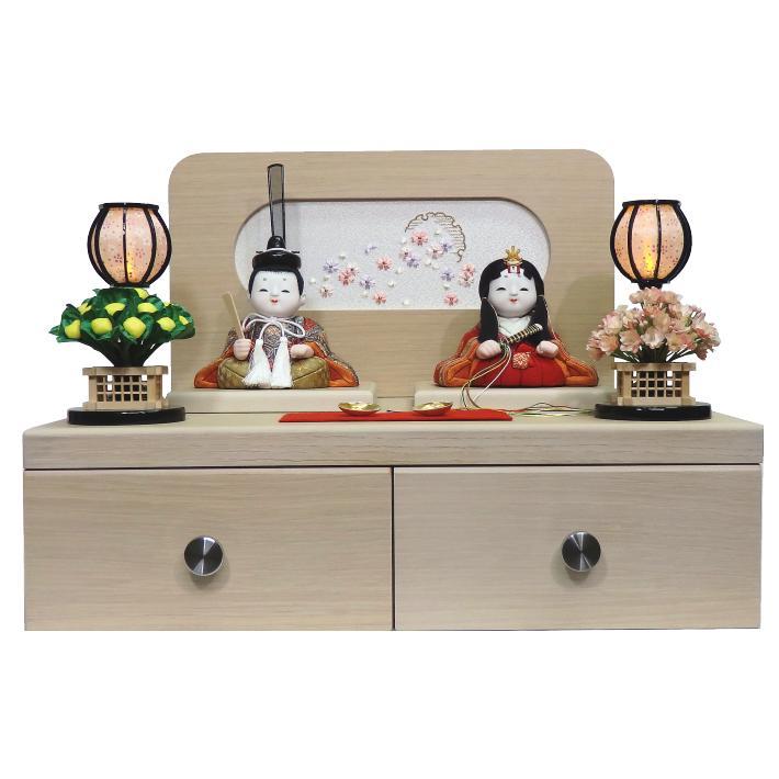 【木目込人形材料キット】【雛人形】【正絹】祝賀雛 収納平飾り