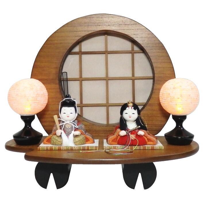 【木目込人形材料キット】【雛人形】【正絹】祝賀雛 丸太台平飾り