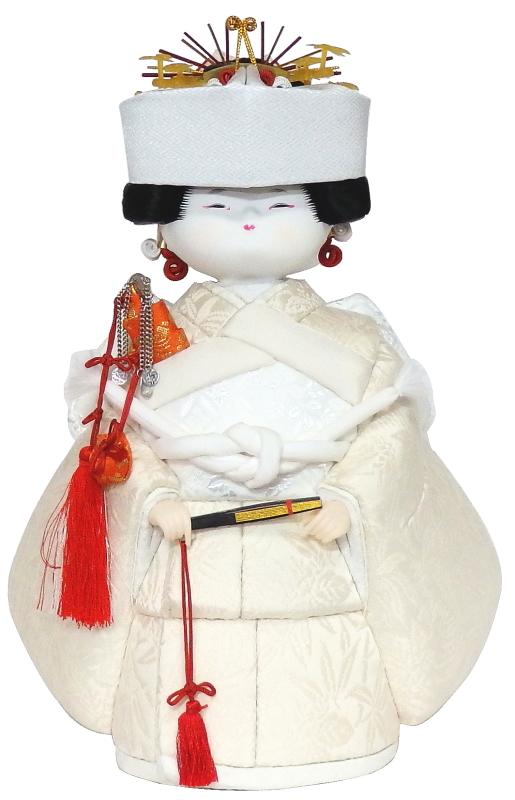 【木目込み人形】【木目込人形材料キット】【布裂地・型紙付】花嫁さん(大)