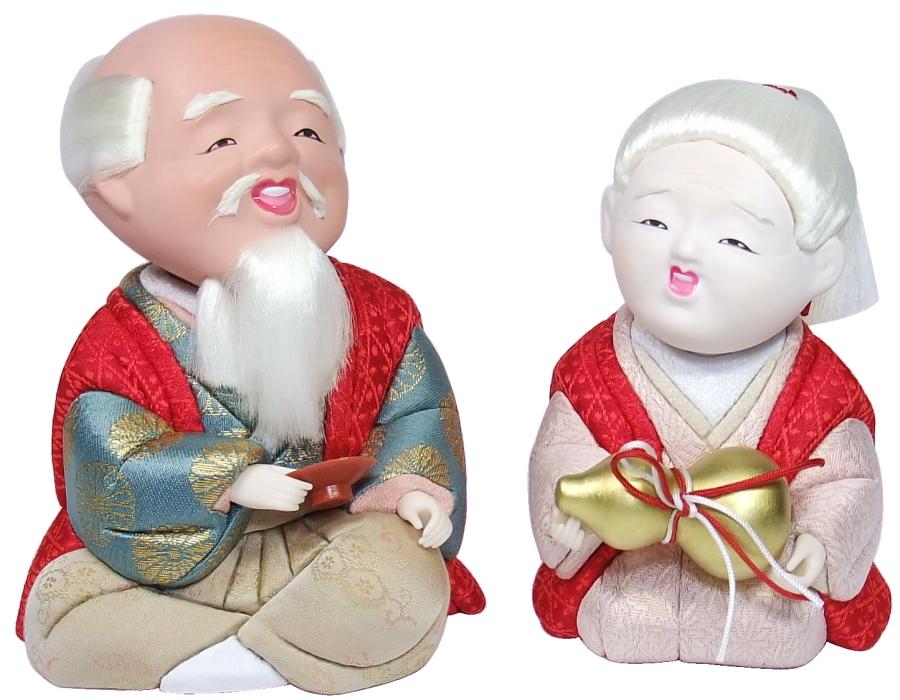 【木目込み人形 木目込人形材料キット 布裂地・型紙付】長寿の祝い