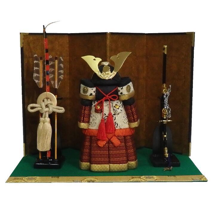 《木目込み人形》《木目込人形完成品》《五月人形》鎧平飾り