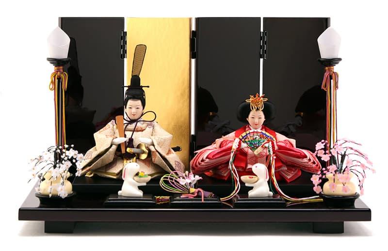 雛人形 特選 コンパクト ひな人形 雛 親王飾り 平飾り 雅泉作 雛爛漫 【2020年度新作】 h293-fzcp-47st10