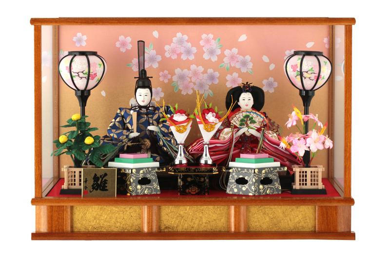 雛人形 特選 ひな人形 雛 ケース飾り 親王飾り 名入れ可能 【2020年度新作】 h243-fz-3s83251