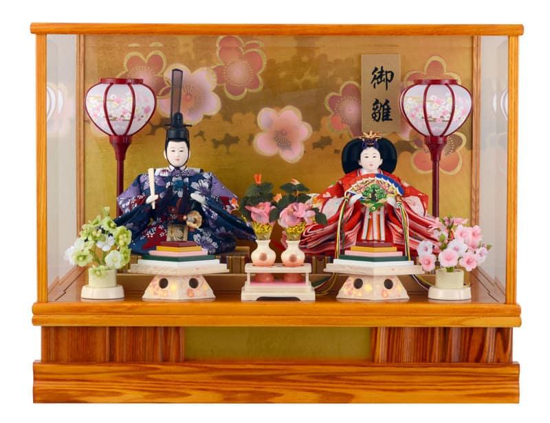 雛人形 特選 ひな人形 雛 ケース飾り 親王飾り ゆうか 淡茶 2005 26062 【2020年度新作】 h263-ts-yuuka-b