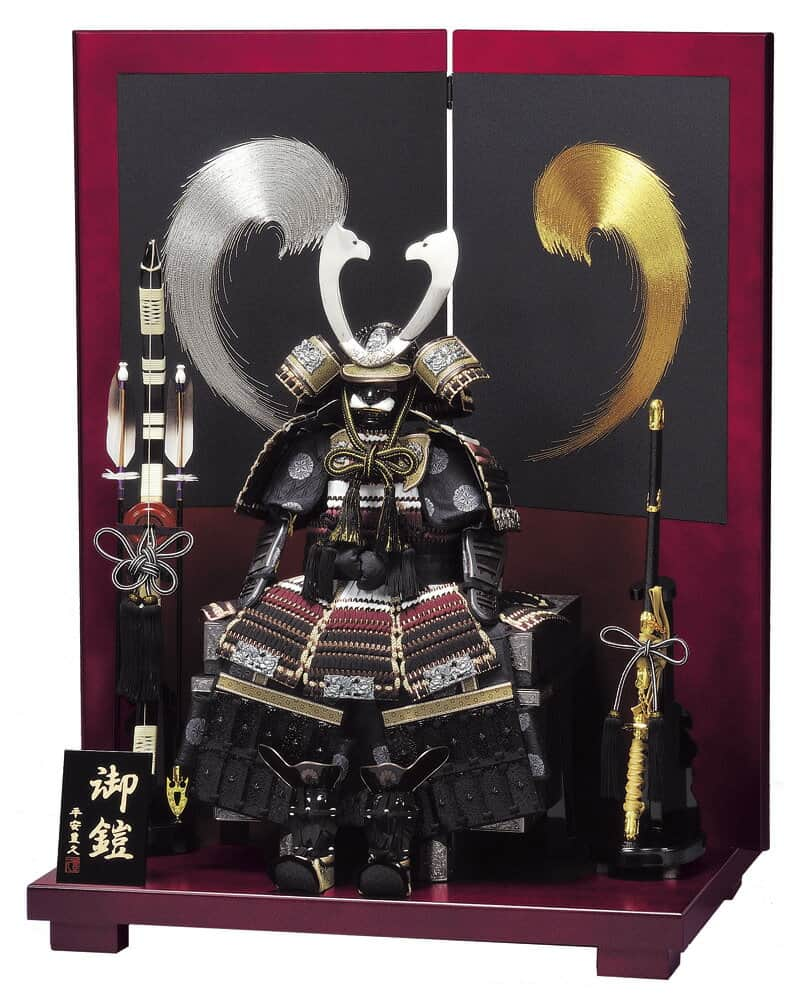 五月人形 豊久 鎧平飾り 鎧飾り 牙狼 10号 【2020年度新作】 h265-mo-501871