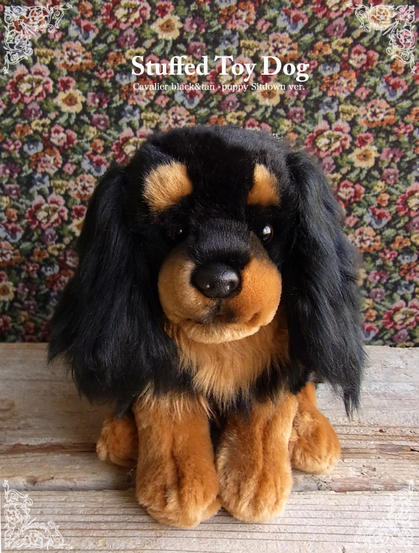 Nini And Quino Stuffed Dog Cavalier King Charles Black Tan