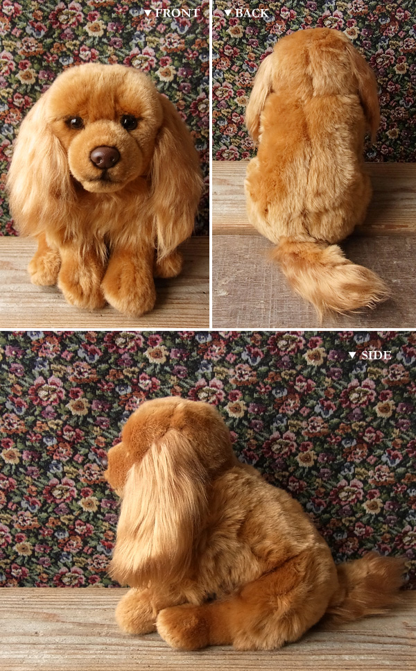 Stuffed dog - Cavalier king charles (ruby color)